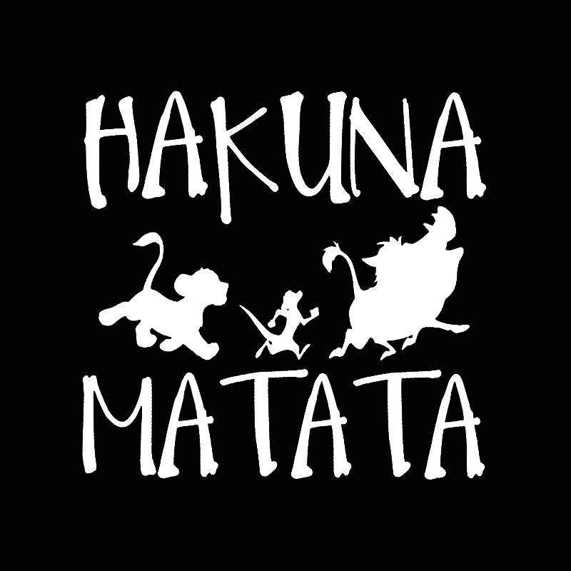 13.8cm13.3cm HAKUNA MATATA Lion King Simba Car-Styling Vinyl Car Sticker (3)