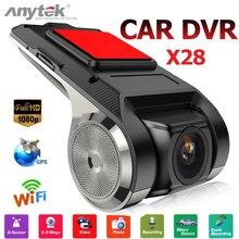 Anytek X28 Auto DVR Camera1080P FHD WiFi Obiettivo ADAS Built-In G-sensor Video Registratore Macchina Fotografica del Precipitare Elettronica per l'auto Accessori