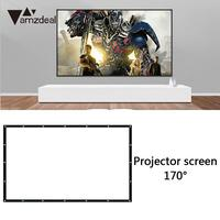 Projection Screen 4:3 Cinema Portable Projector Screen Conference 170 Degrees Projector Curtain Polyester Manual