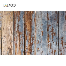 Laeacco Grunge Wooden Board Baby Food Pet Portrait Photography Backgrounds Customized Photographic Backdrops for Photo Studio
