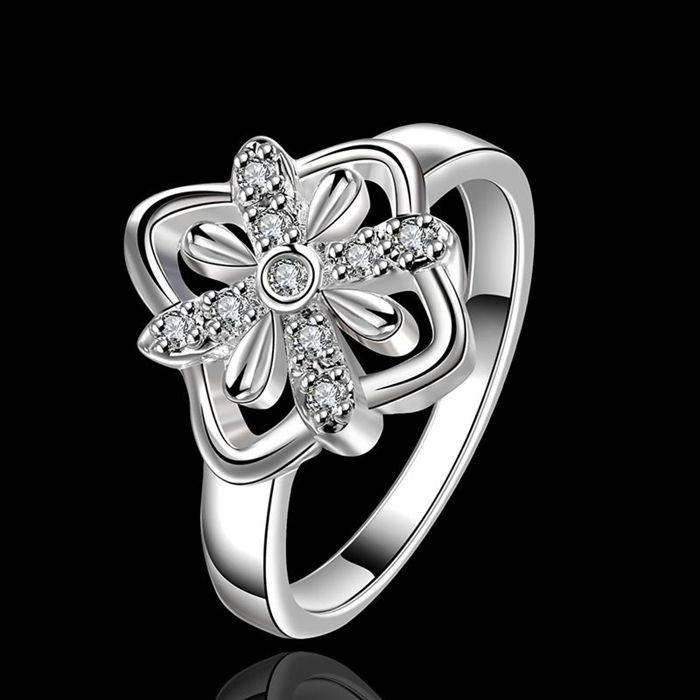 fine summer style silver plated rings 925-sterling-silver jewelry man-made  wedding rings for women 3bec431fb7