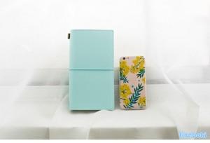 Image 5 - Heißer Vintage Makronen Reisende Notebook Echtes Regeneriert Leder Schule Persönliche Milch Notebook Agenda Planer Reise Journal