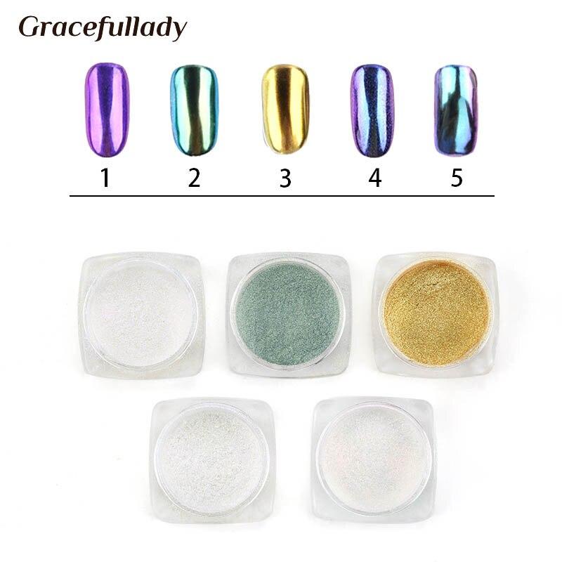 Nagelglitzer Selbstlos 1 Box Spiegeleffekt Nagel-glitter Vtirka Dip Chrom nägel Kunst Pigmentpulver Diy Nagel Dekorationen Glitters