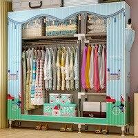 GIANTEX ткань шкаф для одежды ткань складной передвижной шкаф хранения спальня мебель дома