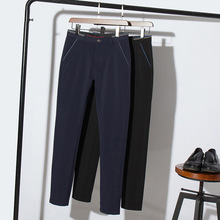 HCXY 2018 New Design spring Casual Men Pants Cotton Slim Pant Straight Trousers British style Fashion Business Pants Men Size 38