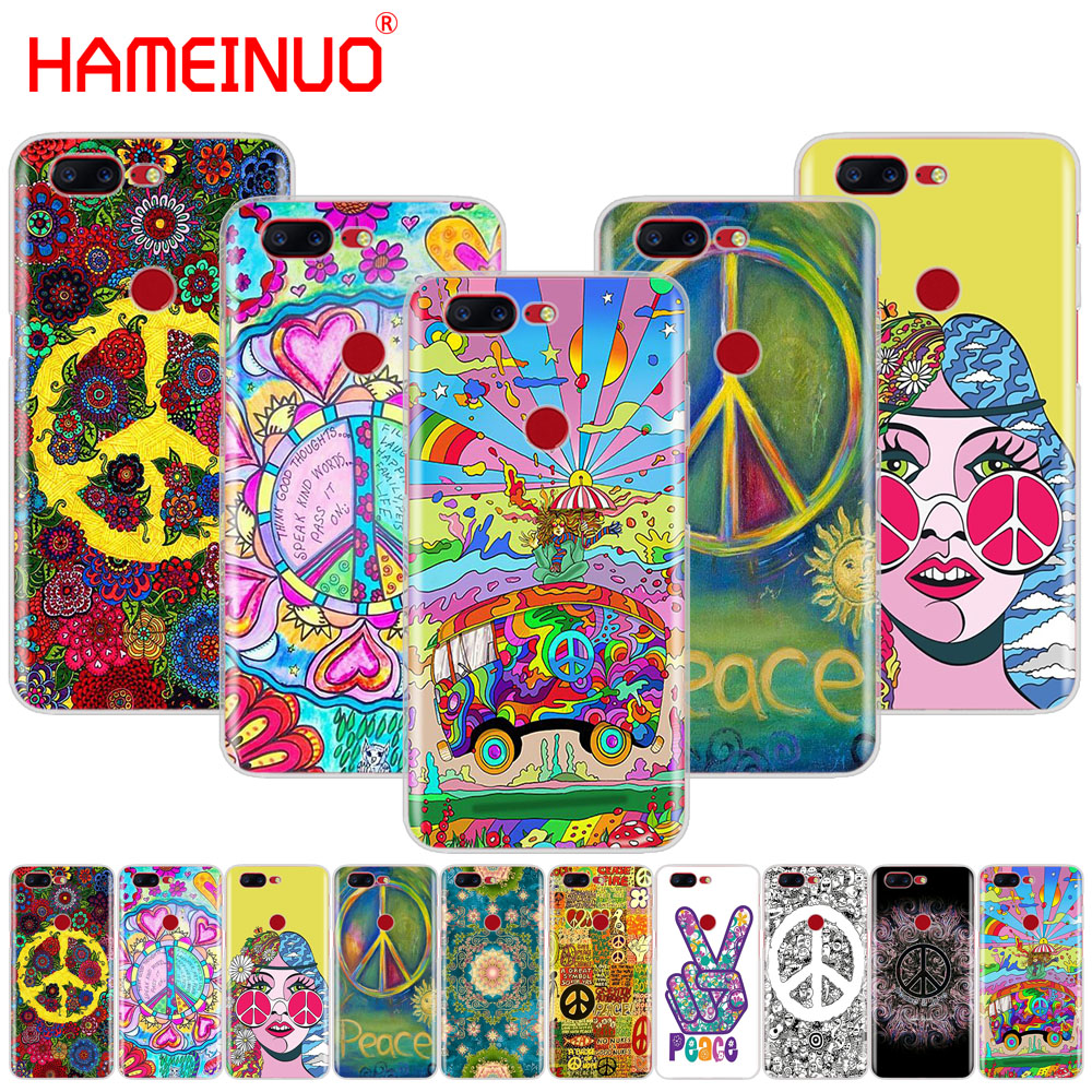 HAMEINUO Hippie Psychedelic Art Peace cover phone case for Oneplus one plus 5T 5 3 3t 2 X A3000 A5000