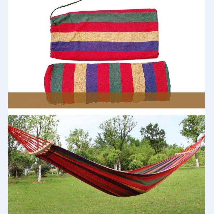 두꺼운 캔버스 휴대용 낙하산 단일 해먹 정원 야외 - 가구 - 사진 2