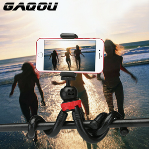 Image 2 - GAQOU Portable Flexible Tripod Octopus Mobile Phone Mini Tripod Bracket with Remote Control Selfie Stick For iPhone XS Huawei