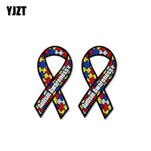 13cm x 7.4cm Zombies Awareness Red Ribbon Bloody Hand Decal Car Stickers Response 3D Car Styling Car Sticker