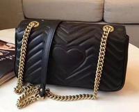 2018 new fashion Marmont bag High Quality messager bag real leather handbag shoulder bag