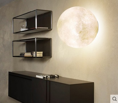 Nordic Creative Moon Lamp Ball Pendant Lights Resin Lamps for Restaurant Bedroom Living Room Dining Room Decoration Lighting