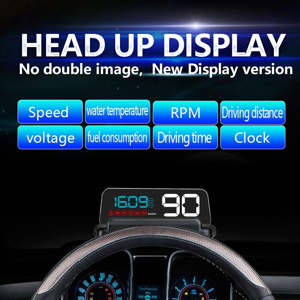 Nueva C500 OBD coche velocidad proyector HUD cabeza hasta la ...