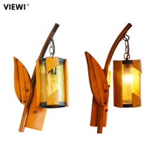 decoracion nordica hogar bamboo wall lamp Fashion personality indoor E27 5W led light for home restaurant malls lamps