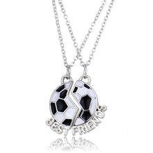 2 шт./пара «лучший друг» Дети колье для девочек эмаль футбол ожерелье в форме Лапы Для детей ювелирные изделия, подарки на день рождения, MDNEN, NF028