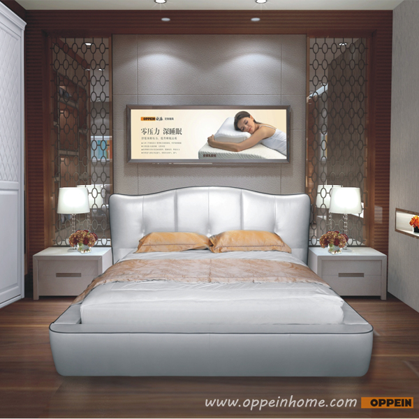 Cama redonda, cama king size grano superior del reposacabezas cama ...