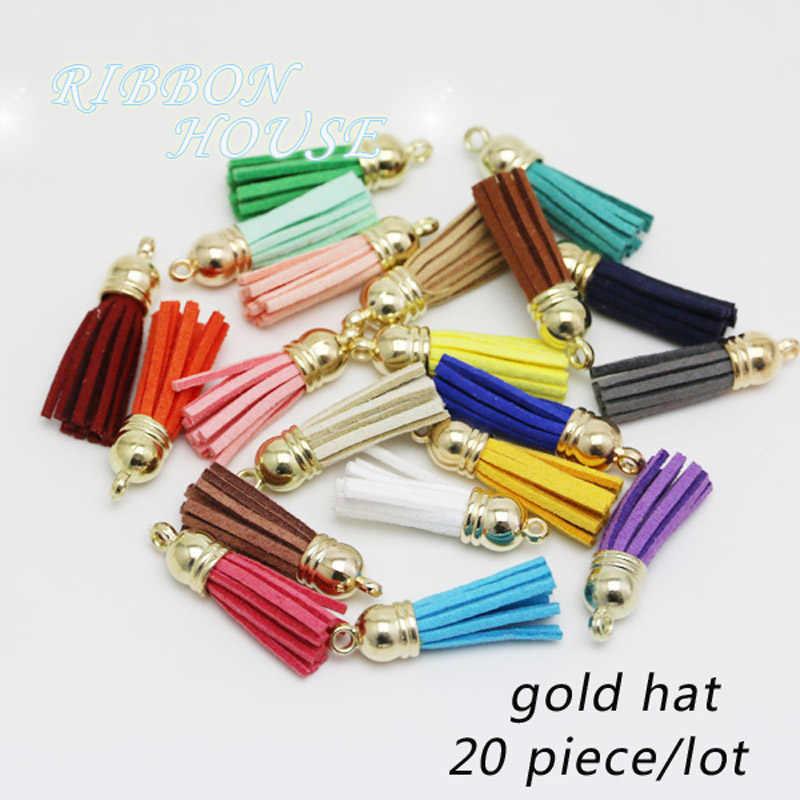 20pcs Light grey Leather Tassel Fiber Tassel Fringe Tassel with bronze plastic Cap Charms,keychains or necklace tassel pendant 56x12mm