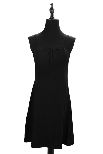 Plus Size Sexy Women's Full Slips Solid Cotton Spaghetti Strap Petticoat Ladies Under dress Female Women Slip Summer Vestidos 4