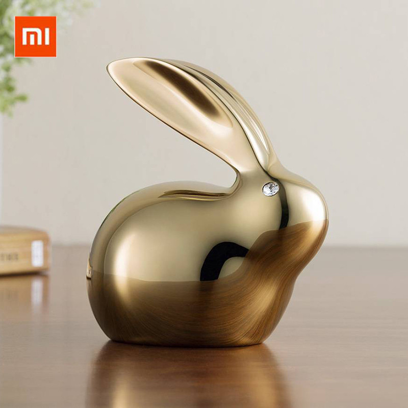 Xiaomi Elegant All Copper Rabbit Bunny Crystal Eyes Refined Brass PVD Plating Ornament Decoration Figurine Home Furnishing Decor