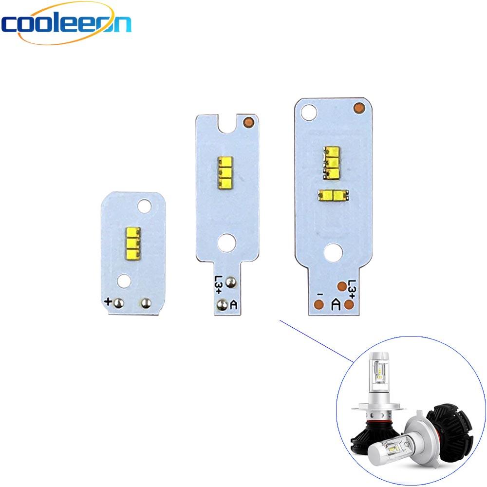 2 шт. зэс COB светодиодный чип для X3 автомобилей головной светильник лампы H1 H3 H4 H7 9005 9006 880 H13 9004 9007 авто фары светильник источник X3 зэс чип