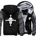 USA size Men Women Anime ONE PIECE Cosplay Zipper Jacket Thicken Hoodie Coat Clothing Casual
