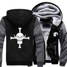 Usa größe männer frauen anime one piece cosplay reißverschluss jacke verdicken hoodie mantel clothing casual