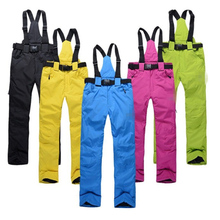 Outdoor ski pants male and female models paragraph wind warm winter sports mountaineering thickening strap pants snowboard pants