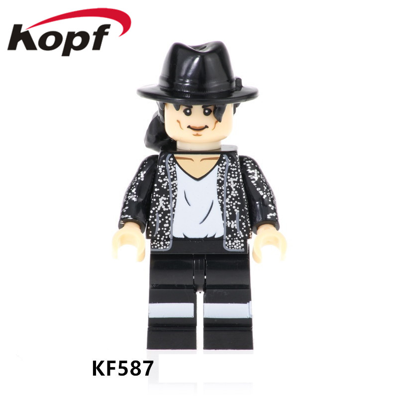 KF587 Single Sale Assemble Famous Singer Model Christmas Gift Figures Learning Building Blocks Bricks For Children Best Toys