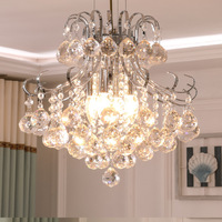 LukLoy Modern Minimalist K9 Crystal Chandelier Dining Room Hanging Iron Chandelier Personality Creative Hotel Lobby Bedroom Lamp
