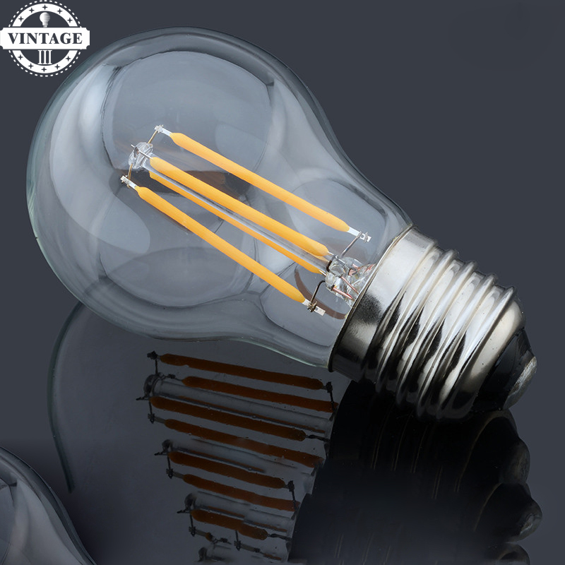 5pieces LightInBox E14 4W 8W 12W Antique Retro Vintage Led Bulb 220V E27 Dimmable Edison Glass Lamp G45 Led Filament Bulb