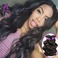 Alimice стиль Сырье Индийского Девы Реми Плетение Волос Natural Body волна 4 Пучки Сделка 7А High End Человека Расширения Для продажа