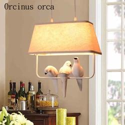 Krajem ameryki ptak wiszące ogród restauracja/bar morza śródziemnego balkon do sypialni lampy wejściowe|Wiszące lampki|   -