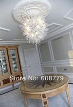 Free Shipping White Hotel Art Lighting Ball Shape Blown Glass Chandelier