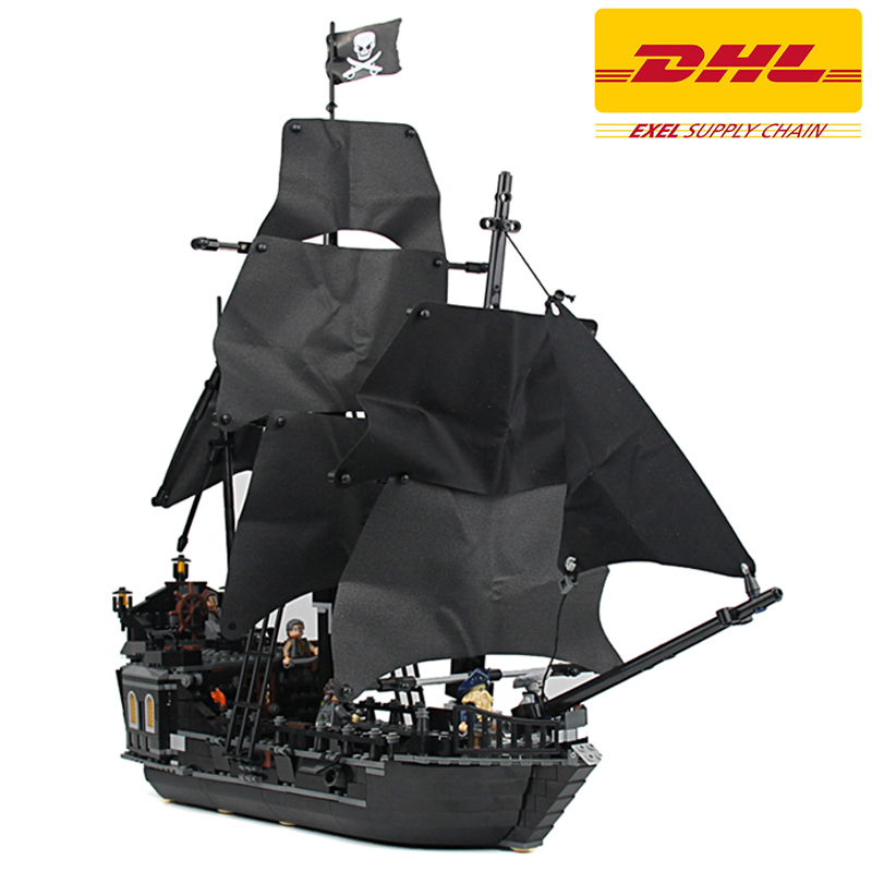 2017 New 804Pcs LELE Pirates Of The Caribbean Black Pearl Ship Model Building Kits Blocks Bricks Toy Compatible With 4184