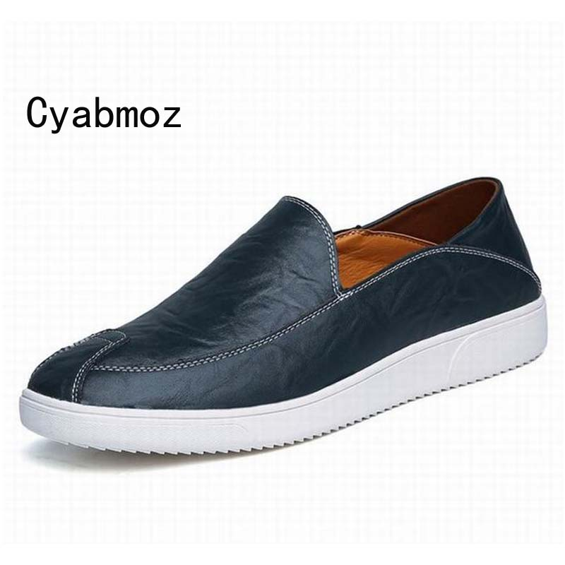 Hot High Quality Men Loafers Leather Round Toe Slip On Casual Shoes Man Flats Driving Shoes Hombre Zapatos Comfortable Moccasins fashion nature leather men casual shoes light breathable flats shoes slip on walking driving loafers zapatos hombre