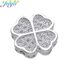 Hand made Jewelry Components Micro Pave Zircon Love Heart Decoration Charm Beads For DIY Natural Stones Beadwork Jewelry Making cheap Juya Copper Needlework Accessories Beads 1 2g Fashion Heart Shape Cubic Zirconia 12mm Micro Pave Zircon Floating Hearts Spacer Metal Beads