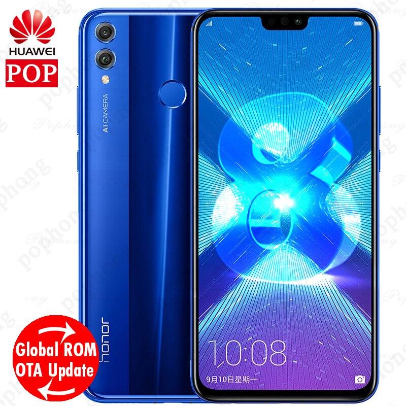 Global Firmware Huawei Honor 8X 4GB 64GB Mobilephone Kirin 710 Octa Core 6 5 inch Android
