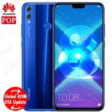 Küresel Firmware Huawei honor 8X honor 8X6.5 inç OTA Güncelleme LTE akıllı telefon Android 8.1 Octa Çekirdek 1.5 GHz 6.5 inç 375...