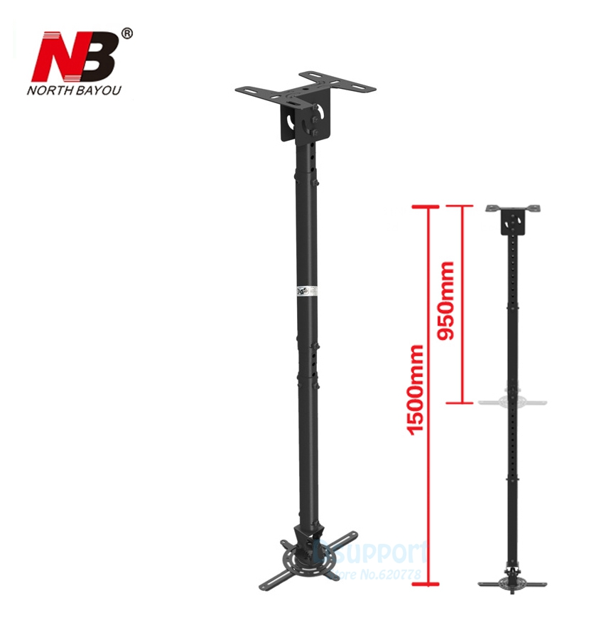 Us 23 7 15 Off Nbt718 4 Retractable Projector Hanger Ceiling Rack Full Motion Mount 950 1500mm Black White In Tv From