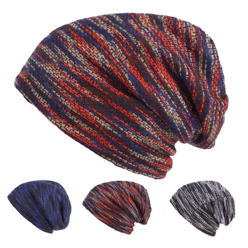 HT1825 Winter Knitted Hats   Skullies     Beanies   Men Women Thicken Hip Hop   Beanie   Caps Warm Casual Woolen   Beanie   Hats for Men Women