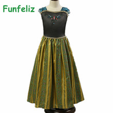 Elsa Jurk Anna Dress Girls Summer Dress Birthday Party Kids Dresses for Girls robe fille enfant princess anna costume 2T-12T