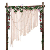 120x160 cm Hand Woven Tapestry Wedding Outdoor Lawn Wedding Party Backdrop Decoration