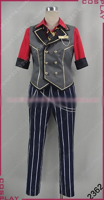 Ансамбль звезд Адонис otogari Косплэй Хэллоуина равномерное наряд жилет + рубашка + Брюки для девочек + галстук на заказ