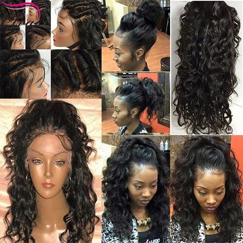 Human Hair Curly Wigs Brazilian Full Lace Human Hair Wigs With Baby Hair Curly Lace Front Wig Lace Frontal Brazilian Hair Wigs