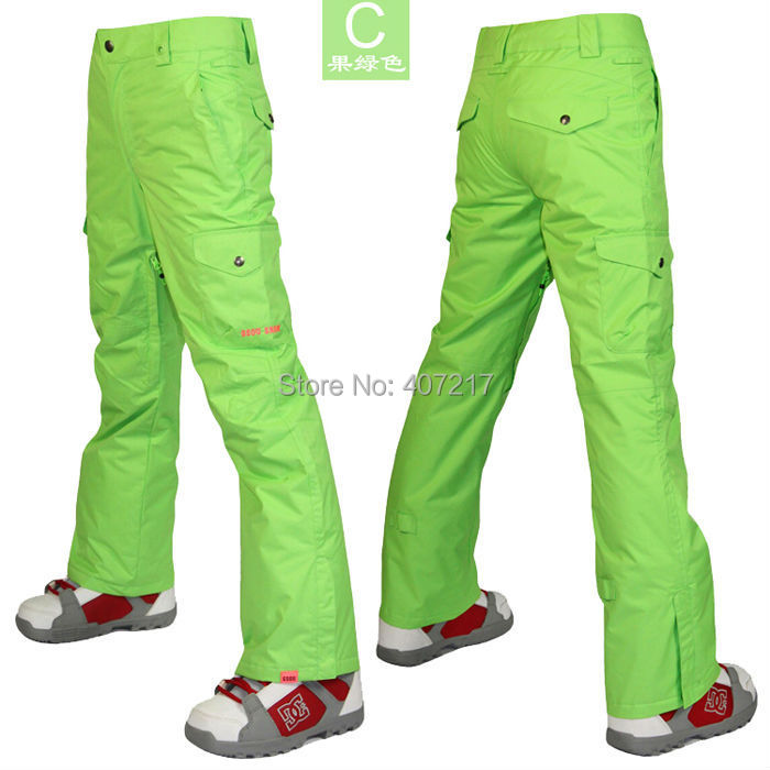 2014 womens green ski pants ladies lime snowboard pants outdoor sports pants skating pants ski jupon waterproof breathable warm сумка green g 14053 2014