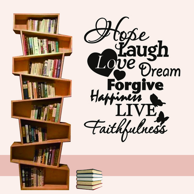 Faith Hope Love Wall Stickers Warm Decoration Nursery Art Wallpaper For Kids Room Living