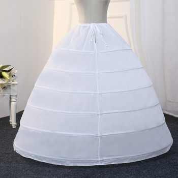 Free Shipping 6 Hoops Petticoats for Wedding Dress Ball Gowns Crinoline underskirt saiote de noiva Six Hoop - DISCOUNT ITEM  12% OFF Weddings & Events