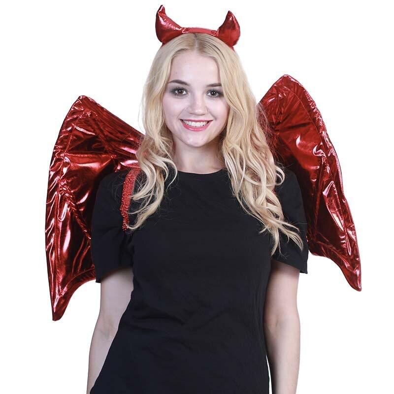 Devil Horns On Headband Fancy Dress Halloween Accessories Adult Black Demon