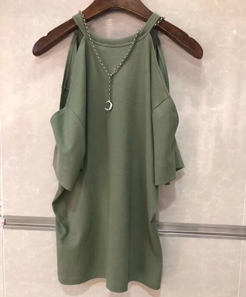 blanc T T Army D'été shirt Décontracté Green T Manches Hauts Mode Femmes Encolure Chemises Courtes shirts Femme TqawxS7S0
