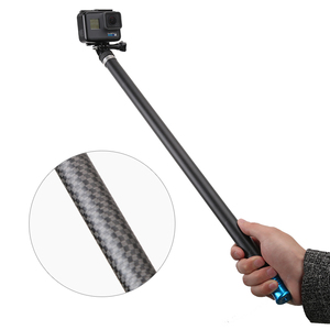 "Image 3 - 106"" Long Carbon Fiber Handheld Selfie Stick Extendable Pole Monopod for GoPro Hero 6 5 4 3 Xiaomi YI SJCAM Eken SOOCOO"