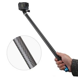 """Image 3 - 106 """"długi z włókna węglowego ręczny kij do Selfie wysuwany kijek monopod do GoPro Hero 6 5 4 3 Xiaomi YI SJCAM Eken SOOCOO"""